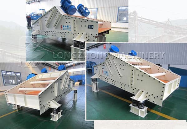 Linear vibrating screen is the most common screen equipment.